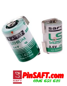 LS14250, Pin Saft LS14250 (chân dẹp) lithium 3.6v size 1/2AA 1200mAh Made in France